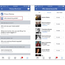 Know who viewed your Facebook profile from the official Facebook App